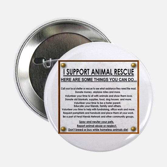 """I support animal rescue"" Button (10 pack)"