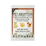 """Pet adoption"" Rectangle Magnet (10 pack)"