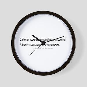 Paramedics and Hookers Wall Clock