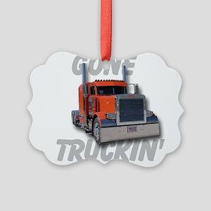 Gone Truckin Picture Ornament