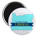 True Blue Oregon LIBERAL Magnet