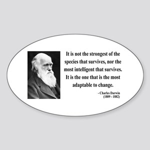 Charles Darwin 6 Oval Sticker