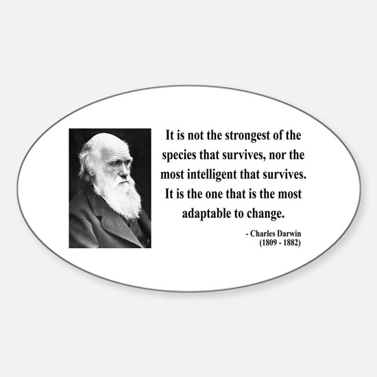 Charles Darwin 6 Oval Decal