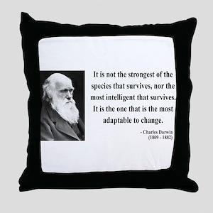 Charles Darwin 6 Throw Pillow