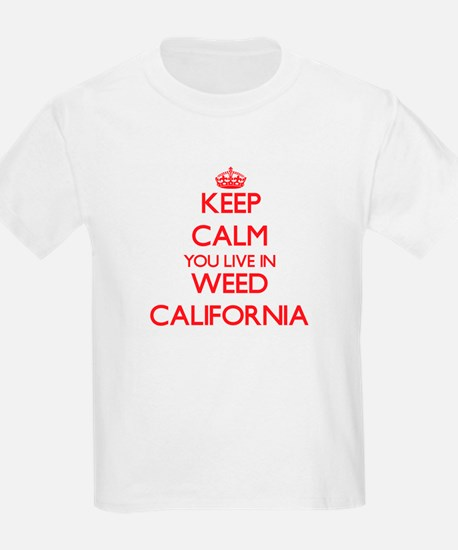 Keep calm you live in Weed California T-Shirt