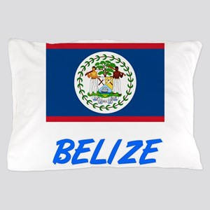 Belize Flag Artistic Blue Design Pillow Case