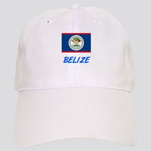 Belize Flag Artistic Blue Design Cap