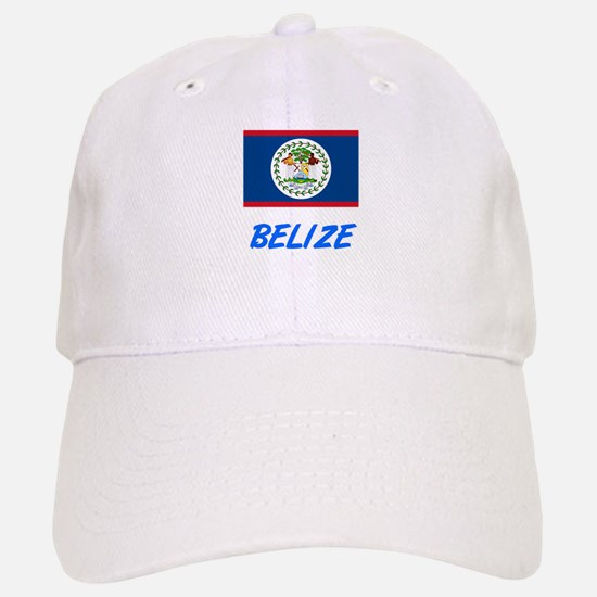 Belize Flag Artistic Blue Design Baseball Baseball Cap