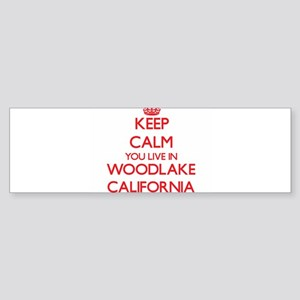 Keep calm you live in Woodlake Cali Bumper Sticker