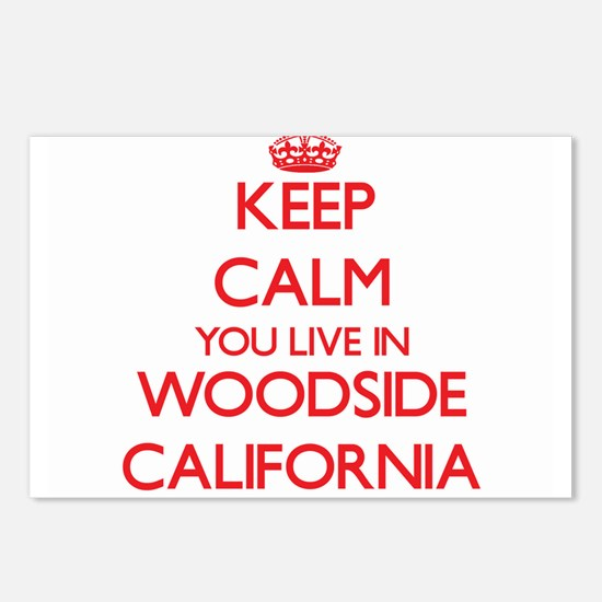 Keep calm you live in Woo Postcards (Package of 8)