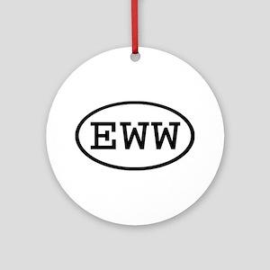 EWW Oval Ornament (Round)