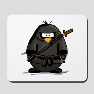 Martial Arts ninja penguin Mousepad