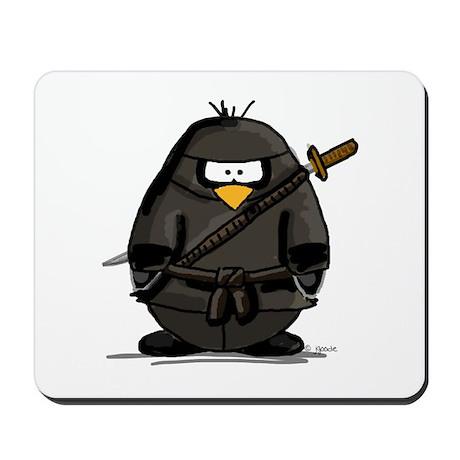 Martial Arts ninja penguin Mousepad
