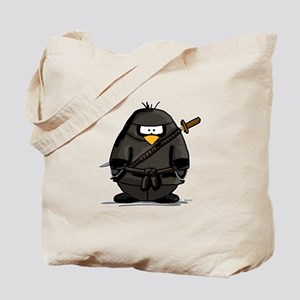 Martial Arts ninja penguin Tote Bag