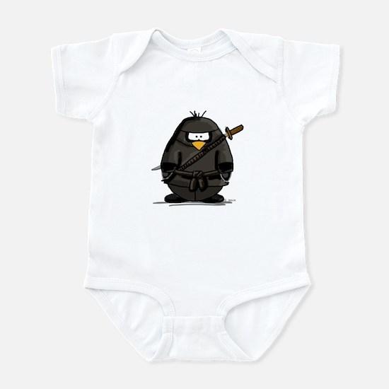 Martial Arts ninja penguin Infant Bodysuit
