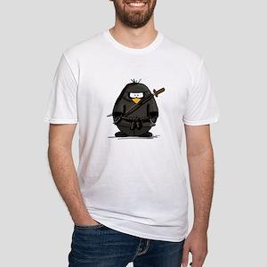 Martial Arts ninja penguin Fitted T-Shirt