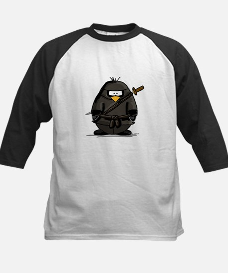 Martial Arts ninja penguin Kids Baseball Jersey