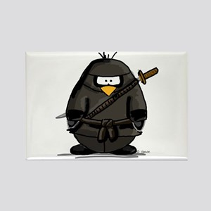 Martial Arts ninja penguin Rectangle Magnet
