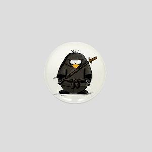Martial Arts ninja penguin Mini Button