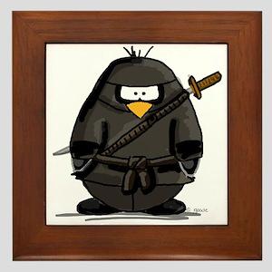 Martial Arts ninja penguin Framed Tile