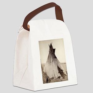 Young Oglala Girl Canvas Lunch Bag
