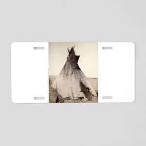 Young Oglala Girl Aluminum License Plate