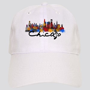 9a62c470151 Chicago Skyline Hats - CafePress