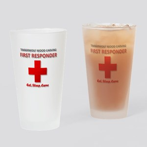 Timberwolf Wood Carving First Responder Drinking G