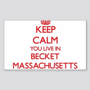Keep calm you live in Becket Massachusetts Sticker