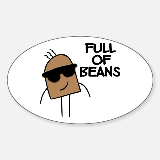 Full Of Beans Oval Decal