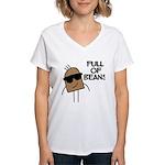 Full Of Beans Women's V-Neck T-Shirt