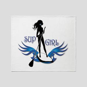 Sup Girl Throw Blanket