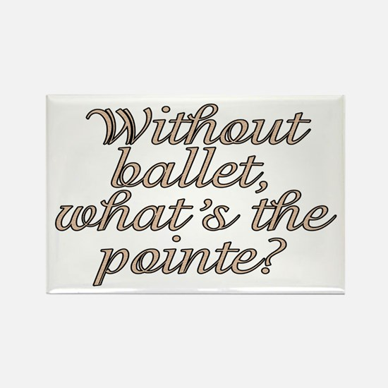 Without ballet - Rectangle Magnet