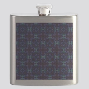 Abstract Purple and Blue Quilt Flask