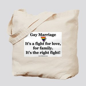 The Right Fight - Gay Rights Tote Bag
