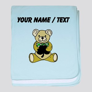 Custom Irish Teddy Bear baby blanket
