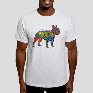 Peace Love Boston Terriers Light T-Shirt