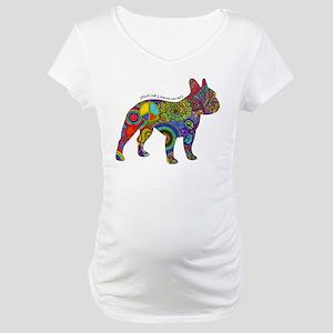 Peace Love Boston Terriers Maternity T-Shirt