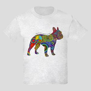 Peace Love Boston Terriers Kids Light T-Shirt