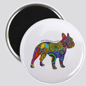 """Peace Love Boston Terriers 2.25"""" Magnet Magne"""