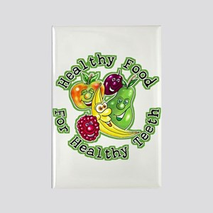 Healthy Snacks for Great Smiles Rectangle Magnet