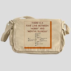 i love bridge Messenger Bag