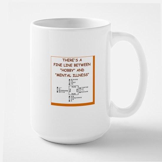 i love bridge Large Mug