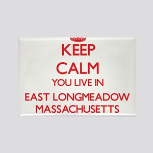 Keep calm you live in East Longmeadow Mass Magnets