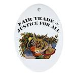 Fair Trade Oval Ornament
