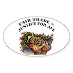 Fair Trade Oval Sticker