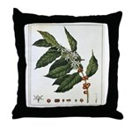 Coffee Botanical Print Throw Pillow