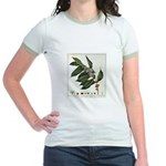 Coffee Botanical Print Jr. Ringer T-Shirt