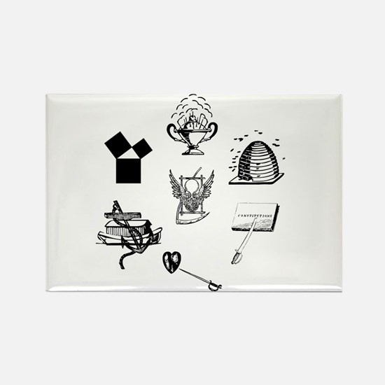 Master Mason Emblems No. 1 Rectangle Magnet