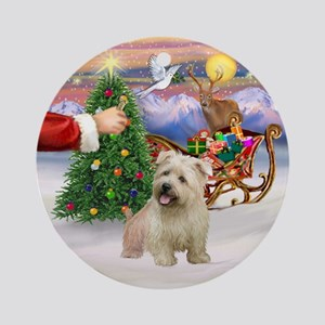 Santa's Treat for Glen of Imaal Ornament (Round)